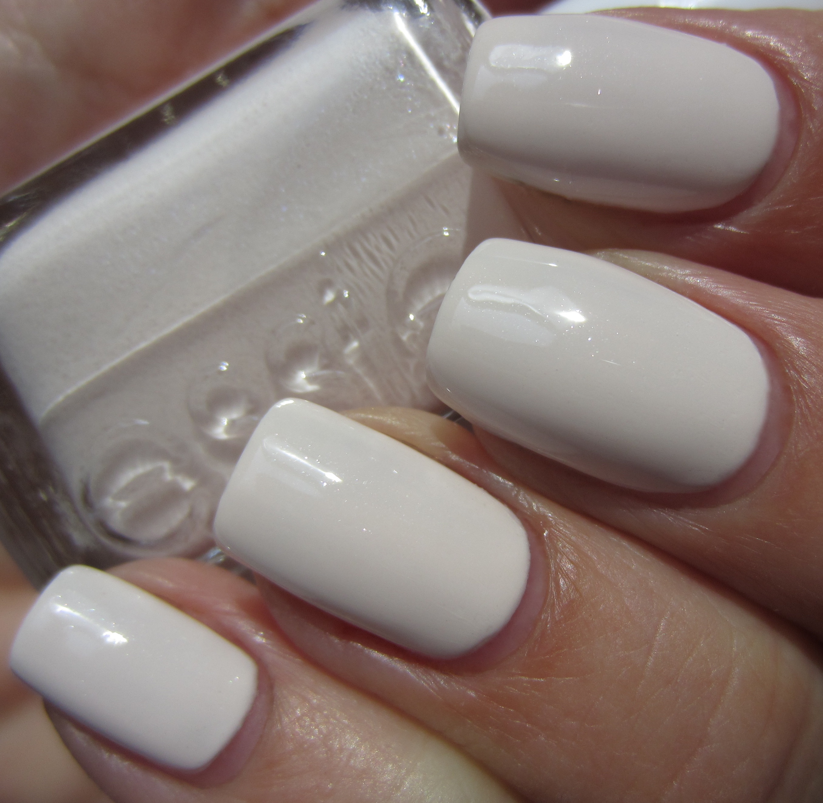 Essie White Nail Polish Swatches - Absolute cycle