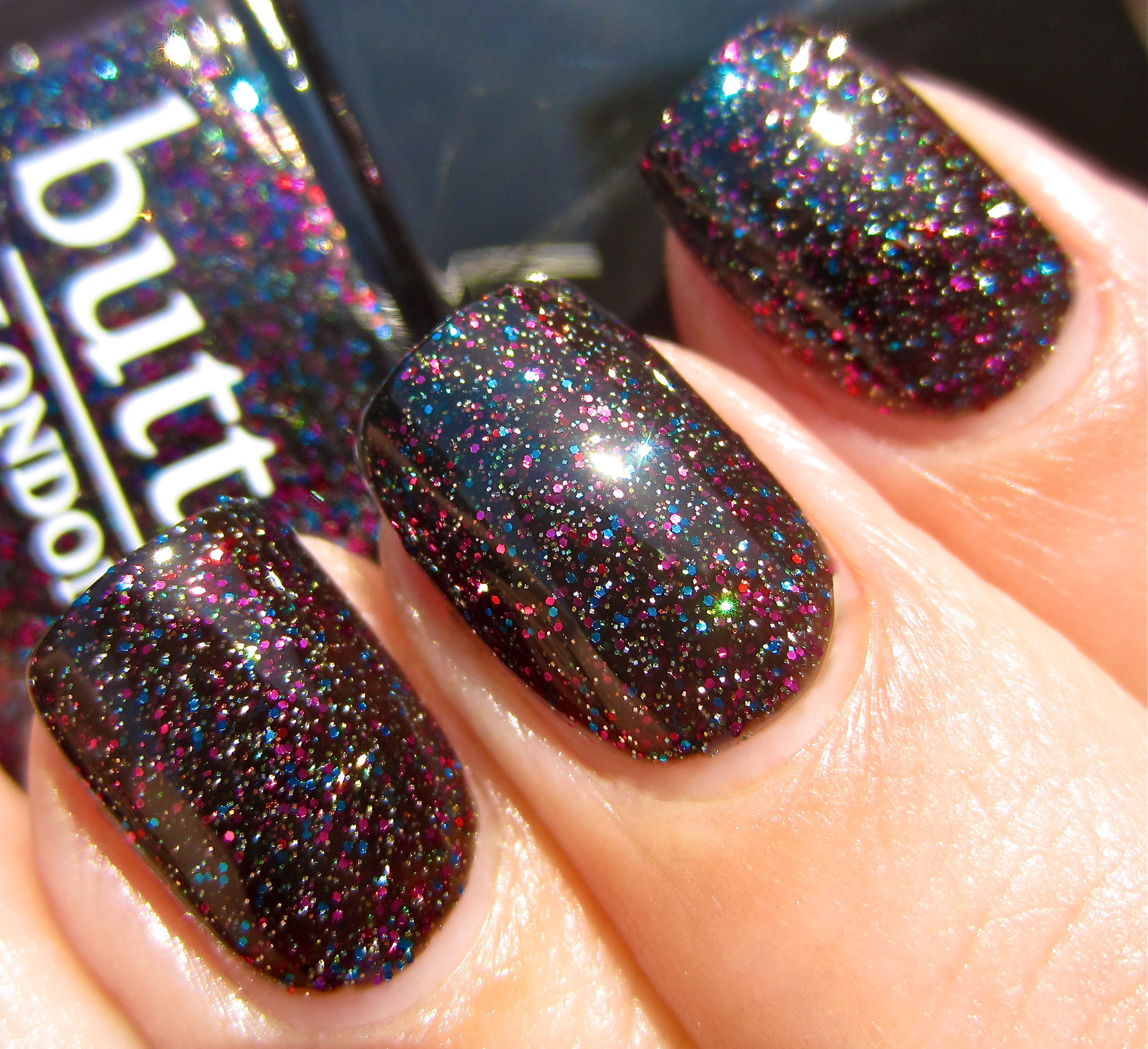 Butter London 'The Black Knight' … and a birthday! (swatches & review)