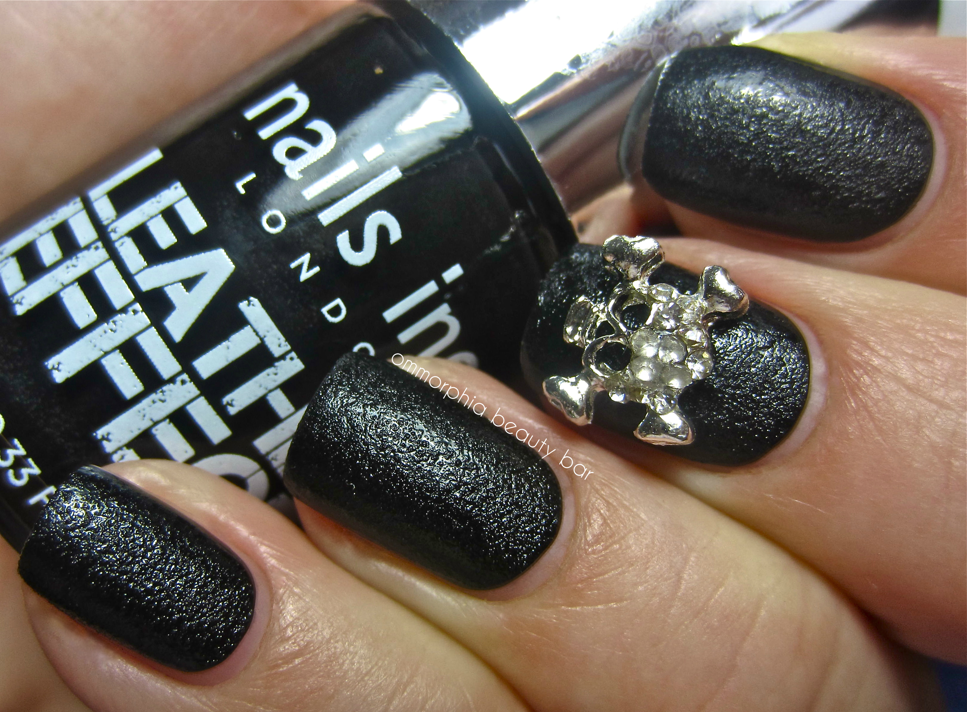 Nails Inc Leather Effect Bling It On Leather Skulls' Nail Polish Collection