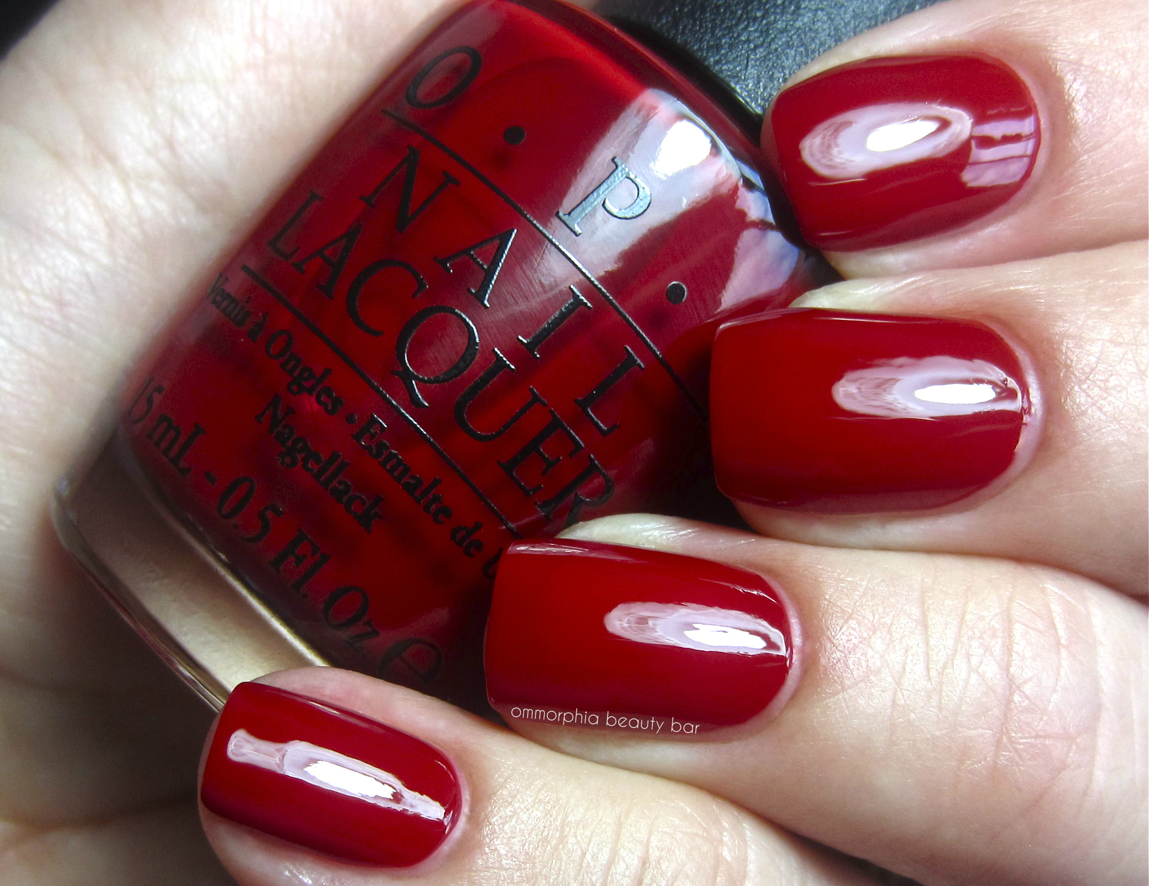 OPI All I Want For Christmas Is Swatch 2